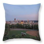 Pittsburgh Skyline At Dusk Throw Pillow