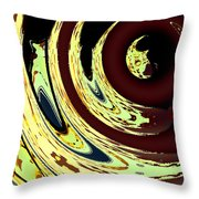 Planetoidal Amplitude Throw Pillow