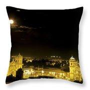 Plaza De Armas Cuzco Peru Throw Pillow