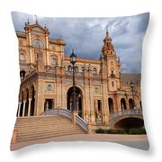 Plaza De Espana Pavilion In Seville Throw Pillow