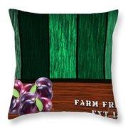 Plum Farm Throw Pillow
