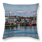 Plymouth Harbor Throw Pillow