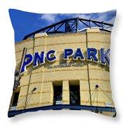Pnc Park Baseball Stadium Pittsburgh Pennsylvania Throw Pillow by Amy Cicconi