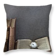 Pocket Watch Throw Pillow