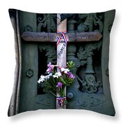 The French Cross Throw Pillow