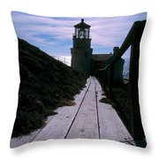 Point Conception Lighthouse Throw Pillow