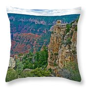 Point Imperial At 8803 Feet On North Rim Of Grand Canyon National Park-arizona   Throw Pillow