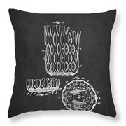 Poll Table Pocket Patent Drawing From 1916 Throw Pillow