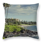 Polo Beach Wailea Point Maui Hawaii Throw Pillow