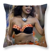 Polynesian Dancers Throw Pillow by Jason O Watson