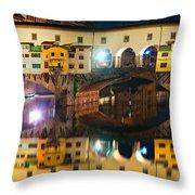 Ponte Vecchio - Florence Throw Pillow