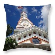 Pontiac Illinois - Courthouse Throw Pillow