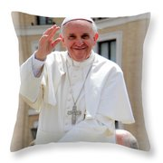 Pope Francis Throw Pillow by Diane Greco-Lesser