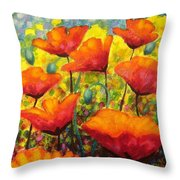 Poppy Corner Throw Pillow