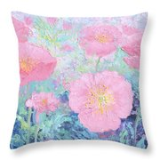 Poppy Garden Throw Pillow