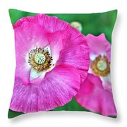 Poppy Power Throw Pillow