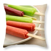 Popsicles Ice Cream Frozen Treat Throw Pillow