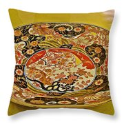 Porcelain Dish In Topkapi Palace In Istanbul-turkey  Throw Pillow