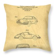 Porsche 911 Carrera 1964 Patent Art  Throw Pillow