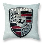 Porsche Emblem  Throw Pillow