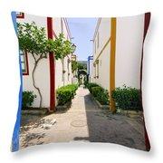 Port In Mogan Throw Pillow