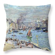 Port Of Le Havre Throw Pillow