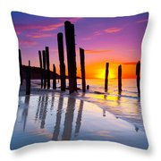 Port Willunga Sunset Throw Pillow
