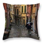 Porto Venere Italy Throw Pillow