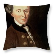 Portrait Of Emmanuel Kant Throw Pillow