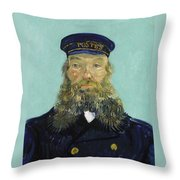 Portrait Of Postman Roulin Throw Pillow