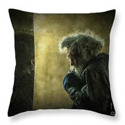 Portrait Of The Homeless Throw Pillow