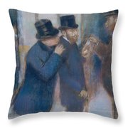 Portraits At The Stock Exchange Throw Pillow