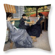 Portraits In The Countryside Throw Pillow
