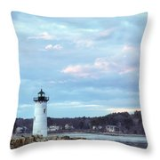 Portsmouth Harbor Light Throw Pillow by Eric Gendron