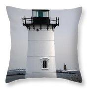 Portsmouth Harbor Light Throw Pillow