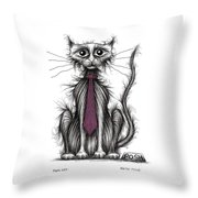 Posh Cat Throw Pillow