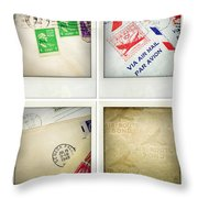 Postal Still Life Throw Pillow