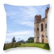 Powderham Castle Throw Pillow