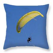 Powered Paraglider Throw Pillow