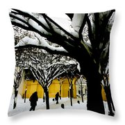 Prague Winter  Throw Pillow