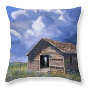 Prairie Church Throw Pillow by Jerry McElroy