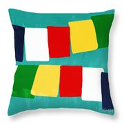 Prayer Flags Throw Pillow by Linda Woods