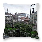 Praza Da Ferreria In Pontevedra Throw Pillow