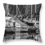 Presque Isle Marina 2013 Throw Pillow