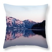 Prince William Sound Reflections Throw Pillow