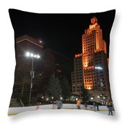 Providence On A Cold December Evening Throw Pillow