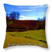 Psalm 46 10 Throw Pillow