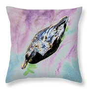 Psychedelic Mallard Duck 2 Throw Pillow