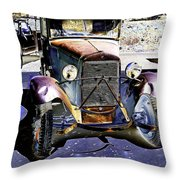Psychedelic Old Pickup Truck 2 Throw Pillow