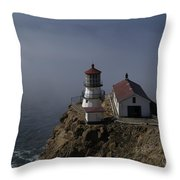 Pt Reyes Lighthouse Throw Pillow by Bill Gallagher